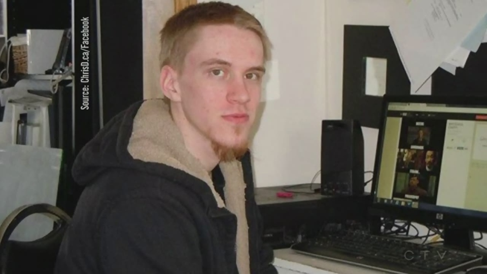 Aaron Driver, 23, appears in this undated image.