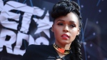 Janelle Monae arrives at the BET Awards at the Microsoft Theater in Los Angeles on Sunday, June 28, 2015. (Richard Shotwell / Invision)