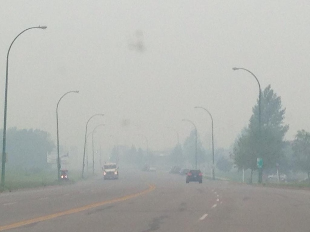 Smoky scene in Prince Albert