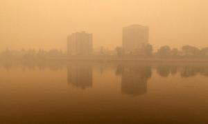 Smoky skyline in Prince Albert as a result of fires in northern Saskatchewan on Monday, June 29, 2015. (Teena Monteleone)