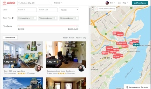 Many Airbnb hosts have not registered with the provincial government in Quebec.