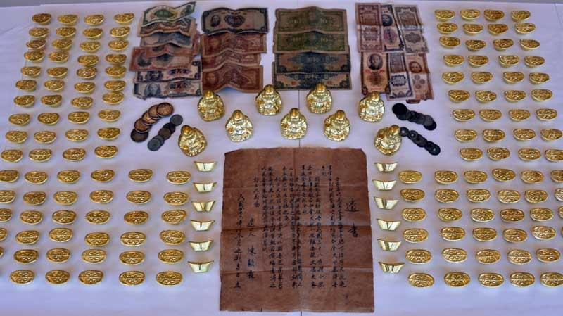 The RCMP has arrested a man accused of selling fake ingots and Buddha figurines to Lower Mainland residents. June 29, 2015. (Handout)