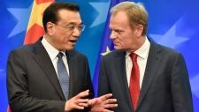 China's Premier Li Keqiang and EU head Donald Tusk