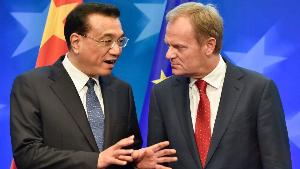 China's Premier Li Keqiang and EU head Donald Tusk