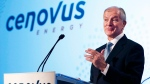 Brian Ferguson, President & CEO of Cenovus, speaks at the company's annual general meeting in Calgary, Alta., on April 29, 2015. (Larry MacDougal / THE CANADIAN PRESS)