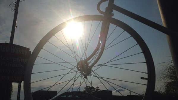 File photo of a bike silhouette at sunset in Windsor, Ont., on June 29, 2015. (Rich Garton / CTV Windsor)