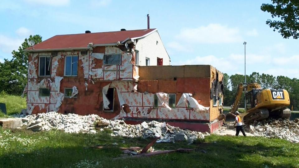 Demolition Of Hells Angels Biker Bunker Begins In Trois