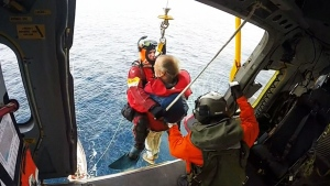 Dramatic rescue of passenger caught on cam