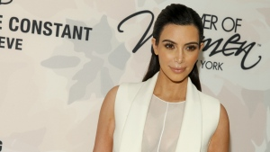 Kim Kardashian attends Variety's Power of Women Luncheon at Cipriani Midtown in New York on April 24, 2015. (AP / Invision / Andy Kropa)