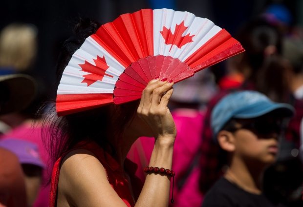 Canadian flag fan