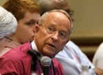 In this Thursday, June 25, 2015, photo, Gene Robinson, who in 2003 became the first Episcopal bishop living openly with a same-sex partner, attends the Episcopal General Convention in Salt Lake City. (AP / Rick Bowmer)
