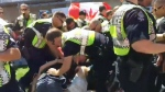 A Cannabis Day protest led to arrests and a heavy police presence at the Vancouver Art Gallery on Wednesday, July 1, 2015.