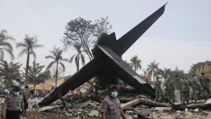 Indonesia air force says crashed plane may have suffered engine problem