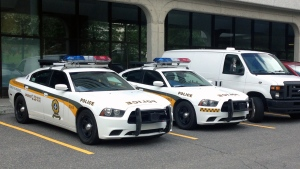 About 60 SQ officers working for UPAC raided the Montreal offices of BPR Engineering on Thursday July 2, 2015 (CTV Montreal/Wayne Toplosky)