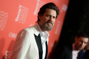 Jim Carrey arrives at LACMA's 50th Anniversary Gala held at Los Angeles County Museum of Art on Saturday, April 18, 2015, in Los Angeles. (Photo by Richard Shotwell/Invision/AP)