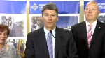 Vancouver Mayor Gregor Robertson addresses transit referendum results in Vancouver, Thursday, July 2, 2015.