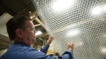 In this Jan. 19, 2010 photo, Sealed Air Business Manager-Air Cellular Products Rohn Shellenberger talks about Bubble Wrap at the company's plant in Saddle Brook, N.J. (AP Photo/Christopher Barth)