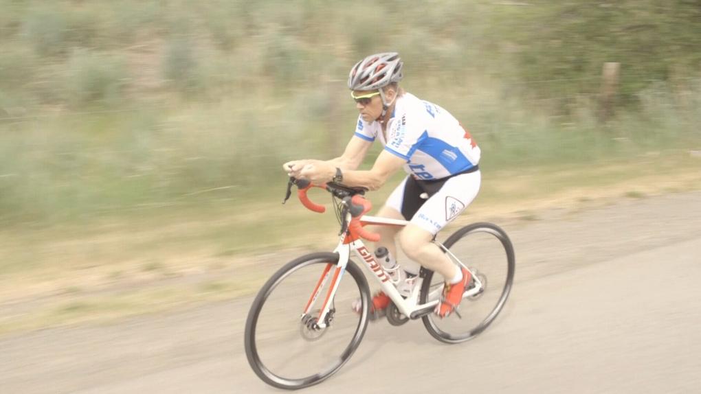 Dale Calibaba biking to Ottawa