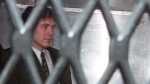 Paul Bernardo arrives at court in Toronto, on Nov. 3, 1995. (THE CANADIAN PRESS / Frank Gunn)
