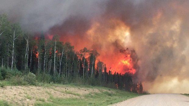 Southern Saskatchewan wildfire