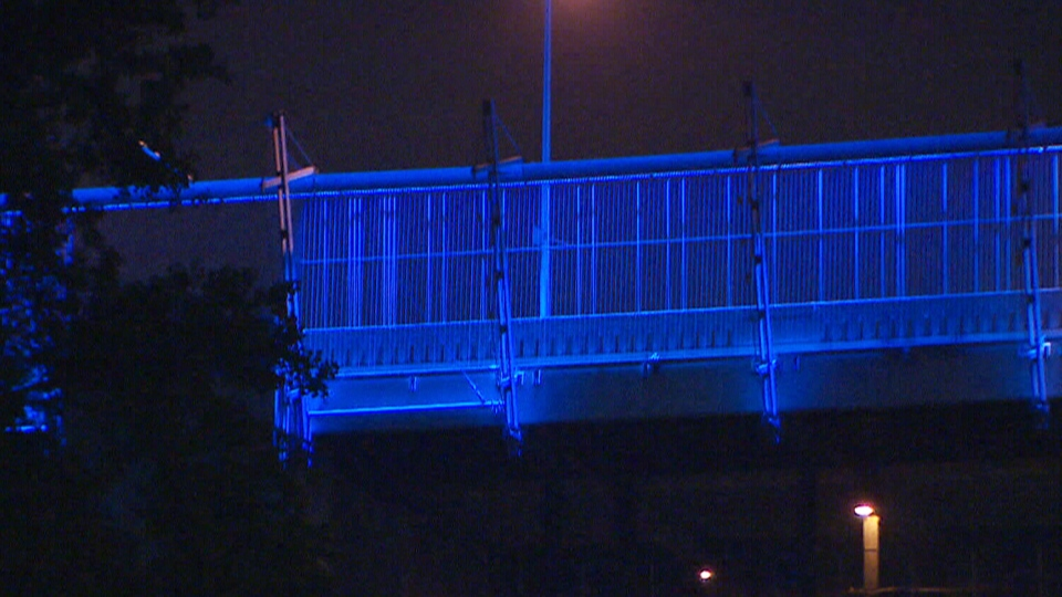 The Bloor Viaduct's 'Luminous Veil' will illuminate the night sky on Saturday, when 35,000 LED lights are turned on for the 2015 Pan Am Games.