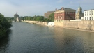 The Grand River flows through Cambridge on Friday, July 3, 2015. (Phil Molto / CTV Kitchener)