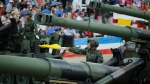Taiwan's military displays heavy artillery at the military base in Hsinchu, on July 4, 2015. (AP / Wally Santana)