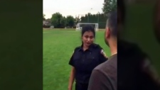 Mountie shuts down family soccer game