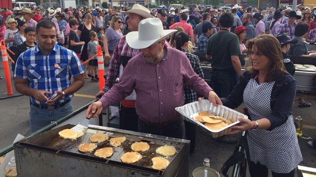 Calgary S Largest Stampede Breakfast Includes Harper