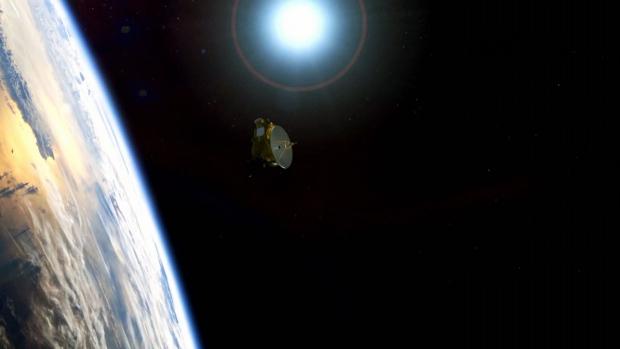 New Horizons over Pluto