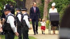 Extended: Royal family arrives for christening