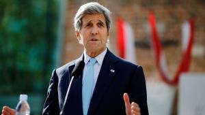 U.S. Secretary of State John Kerry delivers a statement on the Iran talks in Vienna, Austria, Sunday, July 5, 2015. (AP / Leonhard Foeger)