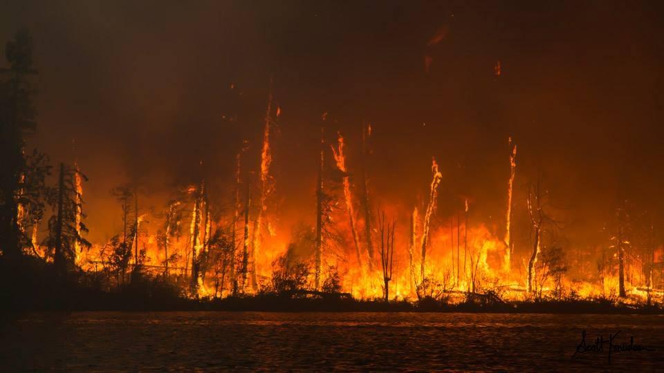 The Eli Fire burns near Lac La Ronge, Monday, July 6, 2015. (Scott Knudsen / Northscape Photography)