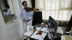 South Korean violinist Won Hyung Joon performs during an interview at his office in Seoul, South Korea on June 24, 2015. (AP / Ahn Young-joon)
