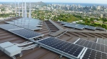 PV panels are shown on Henk Rogers' home in Honolulu in this undated photo provided by Blue Planet Energy Systems. (Ryno Irwin / Blue Planet Energy Systems)