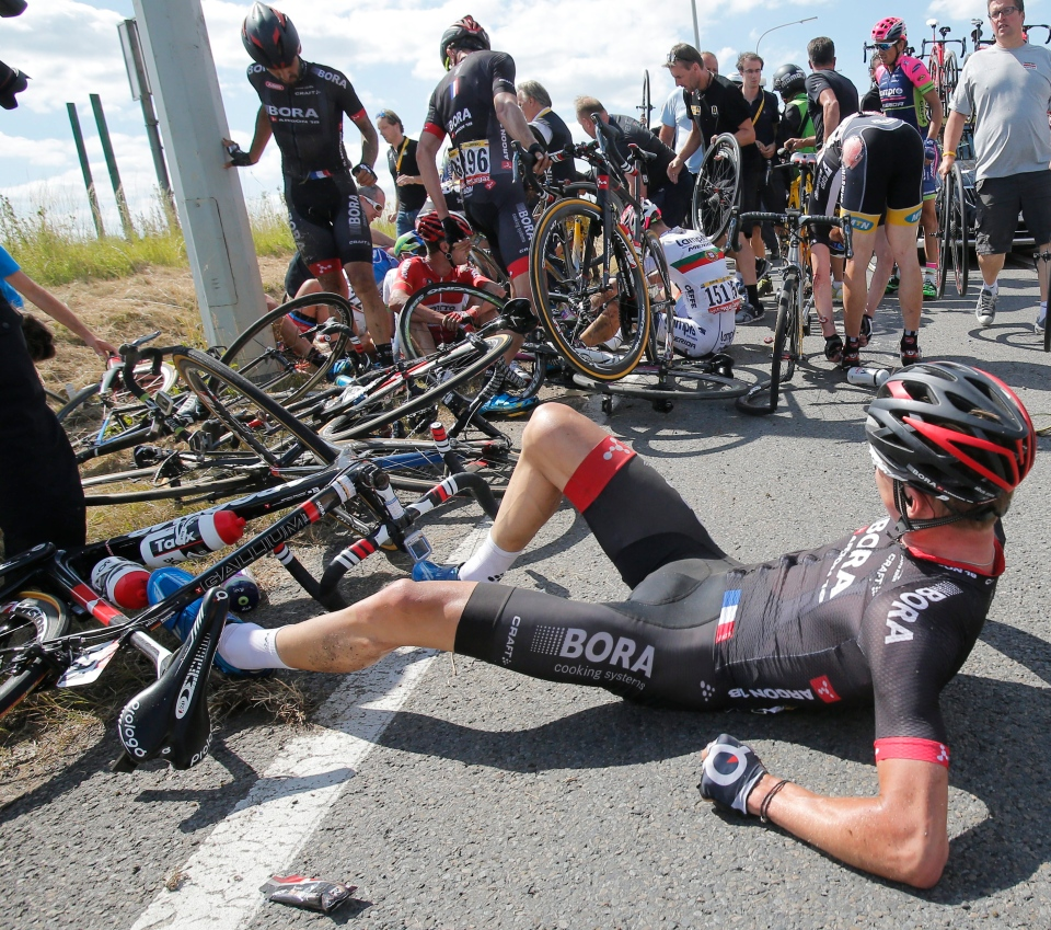 Pileup Brings Tour De France To A Crashing Halt In Belgium