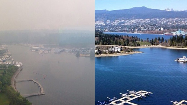 Vancouver skyline transformed by smoke