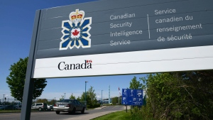 A sign for the Canadian Security Intelligence Service building is shown in Ottawa, on Tuesday, May 14, 2013. (THE CANADIAN PRESS/Sean Kilpatrick)