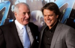 "In this March 22, 2011 file photo, producer Jerry Weintraub, left, subject of the HBO documentary film ""His Way,"" poses with actor Matt Damon at the premiere of the film in Los Angeles. (Chris Pizzello / AP Photo)"