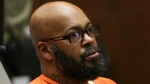 "Former rap mogul Marion ""Suge'' Knight appears in a Los Angeles court on April 8, 2015. (Los Angeles Times / Irfan Khan)"