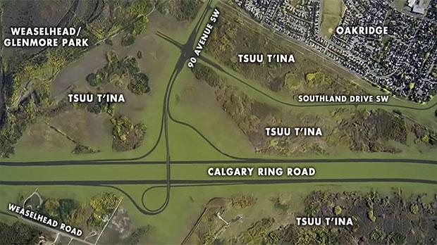 ring road, Calgary ring road, Tsuu T'ina land swap