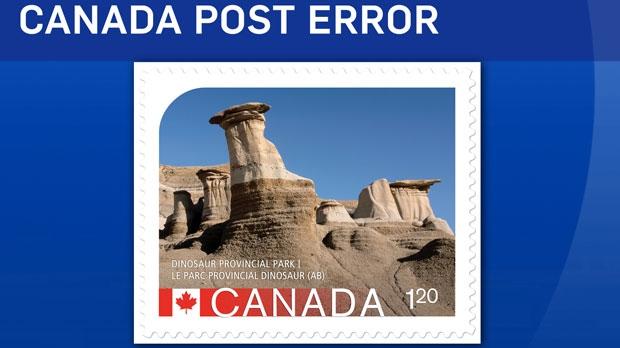 Canada Post stamp error