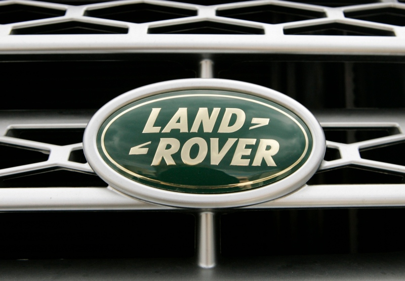 The logo on the grill of a Land Rover vehicle appears in the parking lot of a dealership, in Norwood, Mass., Wednesday, March 26, 2008. (AP / Steven Senne)