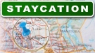 Staycation title gfx
