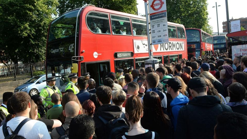 Strike in London transit choas
