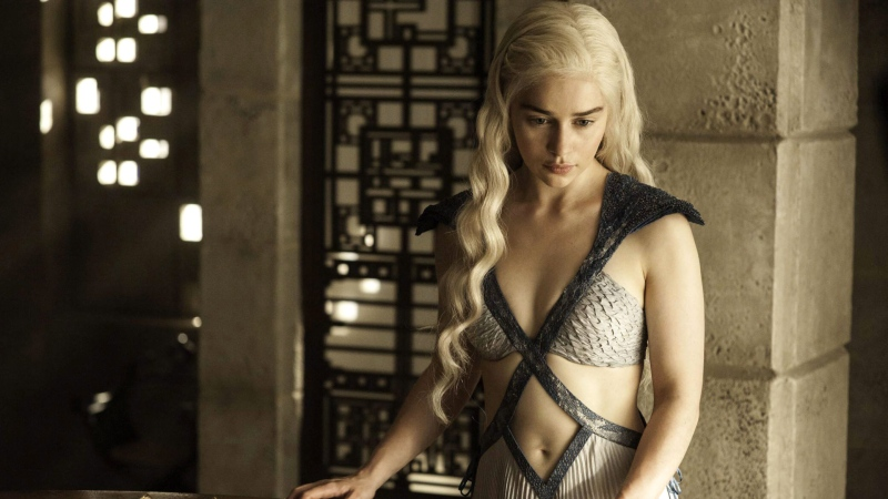 "Actor Emilia Clarke is seen in an image from the HBO series ""Game of Thrones."" A sex scene from the show was included in a video montage watched by Grade 6 students in Coquitlam, B.C."