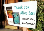 This photo taken Wednesday, July 8, 2015, shows a sign welcoming book fans to Monroeville, Ala., the hometown of 'To Kill a Mockingbird' author Harper Lee.  (AP / Jay Reeves)