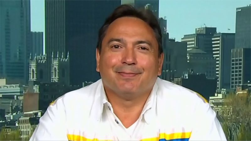 Assembly of First Nations National Chief Perry Bellegarde in Montreal on July 9, 2015.