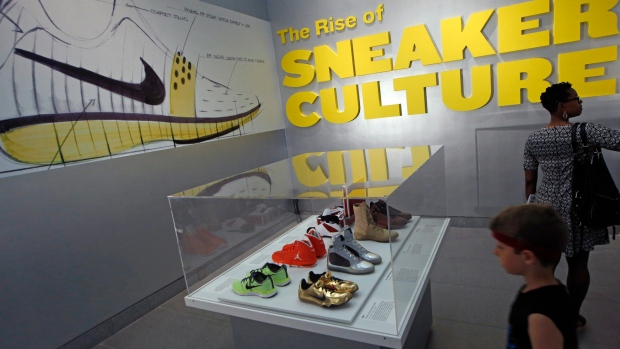 The Rise of Sneaker Culture exhibit in Brooklyn