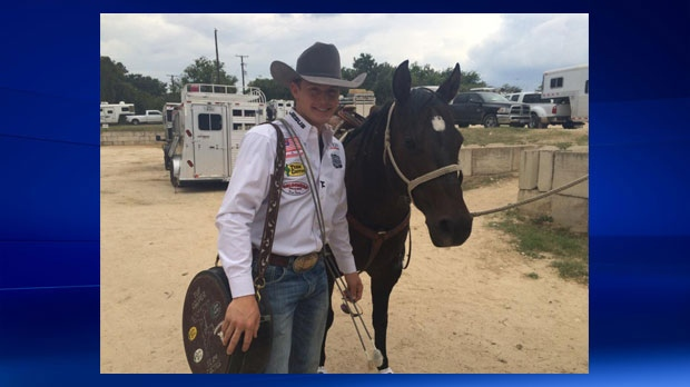 Tie-down roper Tuf Cooper has been eliminated from the 2015 Calgary Stampede (Photo:Twitter)